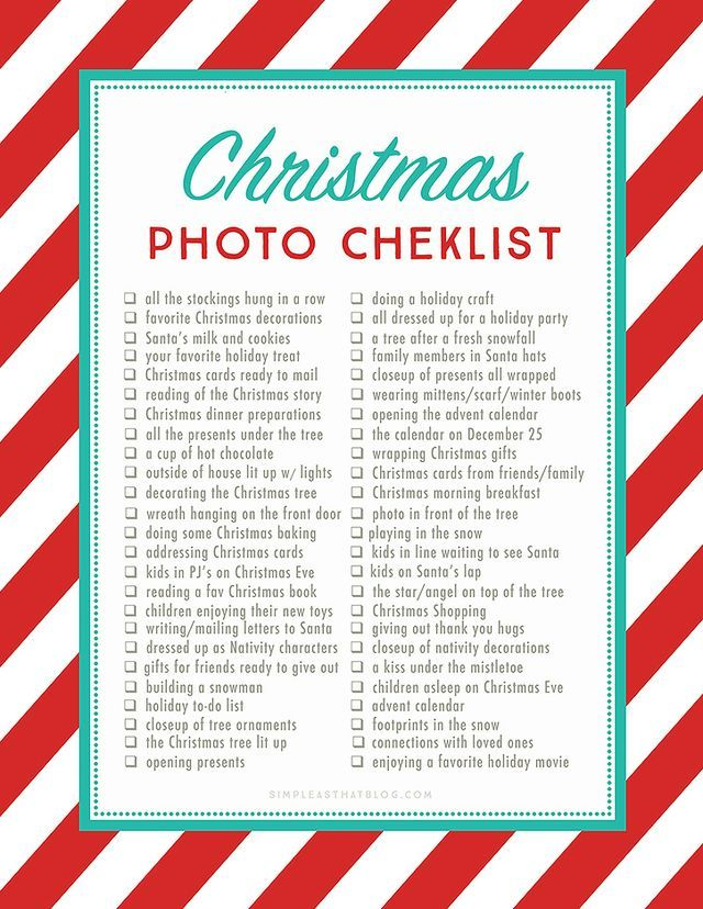 50 Photos to Take this Christmas