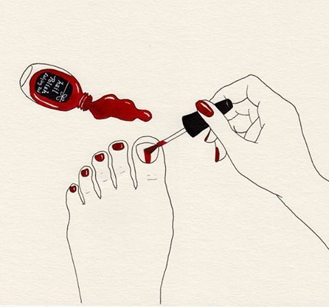 Ladybug red #drawing #watercolour #watercolor #水彩 #nail #イラストレーション #イラスト #nailpolish #paint #illustration #painting #ネイル #illustrator #art #artist #black #red #ink #fashion #fashionillustration #ファッション #ファッションイラスト