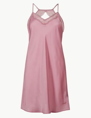 Satin Strappy Chemise in 2019  e18e758d1