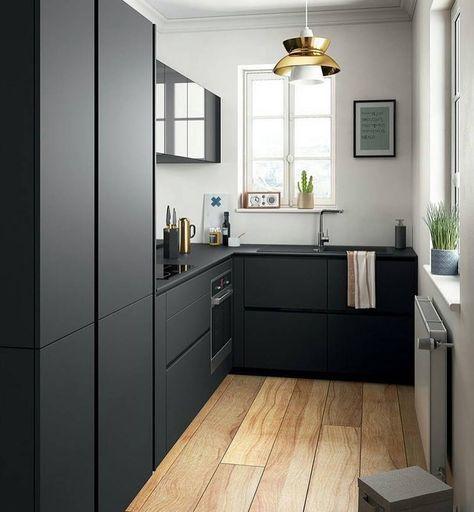 """416 Likes, 6 Comments - Inspirações de Decoração (@decordaka) on Instagram: """"Preto na cozinha, muita elegância e sofisticação  {Via: @eudesignerdeinteriores }"""""""