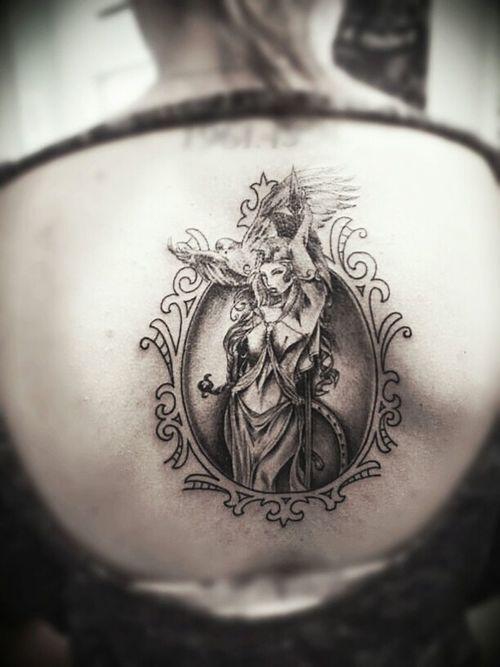 Athena, the Greek virgin goddess of wisdom and war
