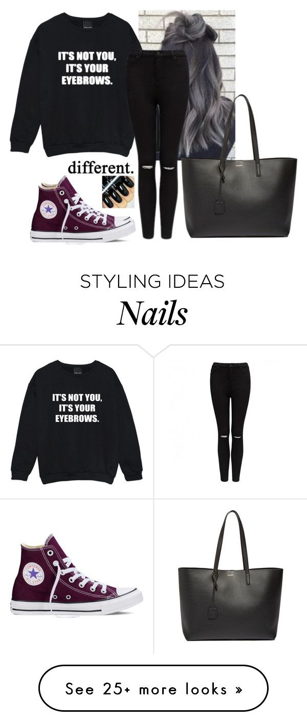 """""""So sorry yes I am """" by hannahmcpherson12 on Polyvore featuring Forever New, Converse and Yves Saint Laurent"""