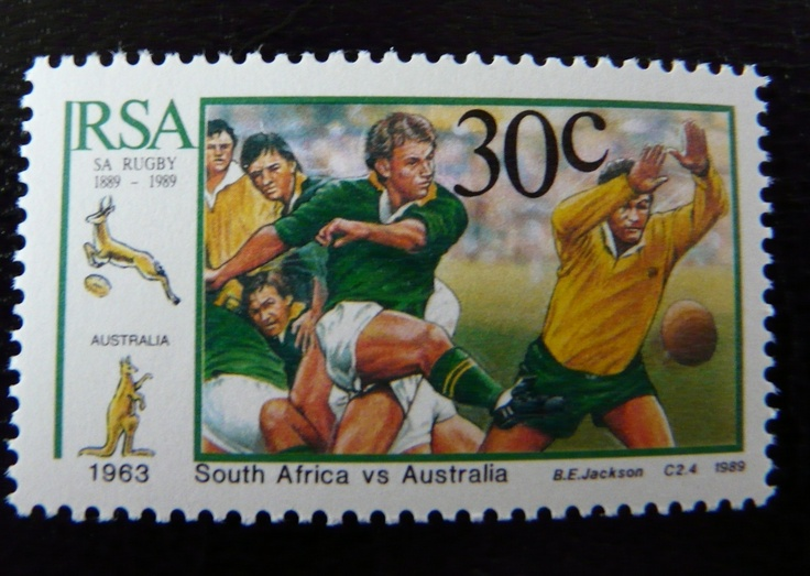 Rugby stamp from South Africa Springboks - Wallabies  For more #rugby collectables check out my blog http://r0cky-rugby.blogspot.com