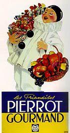 Pierrot Gourmand, carton publicitaire découpé, d'après René Vincent