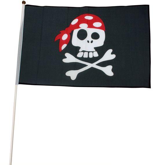 Pirat flag på pind til børn