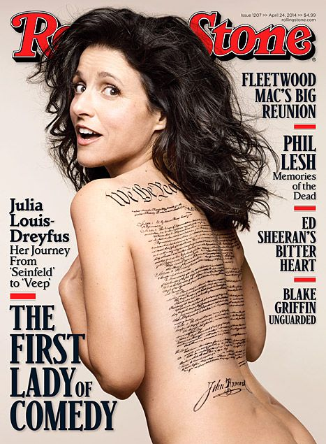 Julia Louis-Dreyfus poses nude on the cover of Rolling Stone