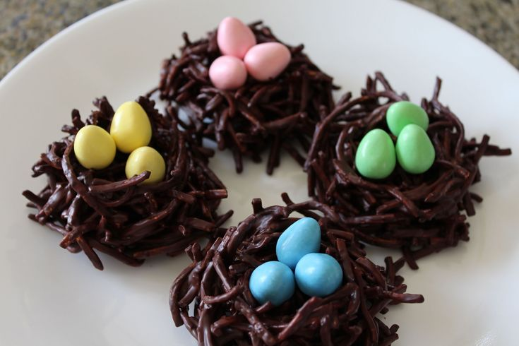 ✦ CHOCOLATE BIRD'S NEST HAYSTACKS for Easter ✦  チョコ鳥の巣  초콜릿 새 둥지 NOSHING...
