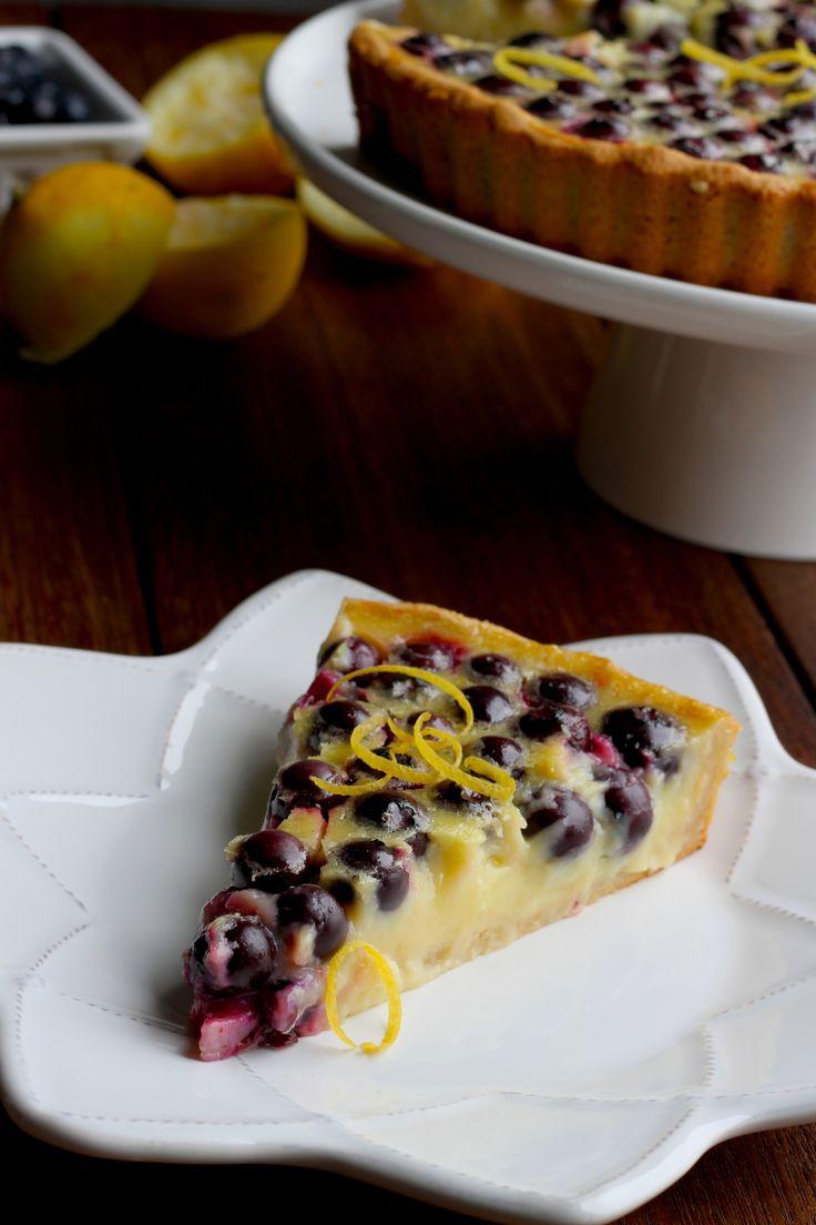 blueberry lemon tart // clafoutis (dairy free)