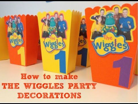 The Wiggles Birthday Party Decorations with free printable images | Cakecrusadersblog.com