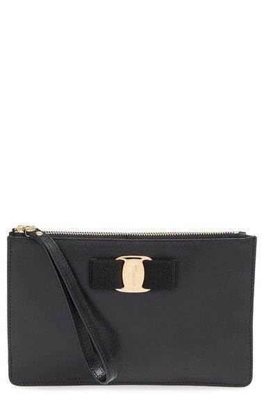 Salvatore Ferragamo 'Miss Vara' Saffiano Leather Wristlet available at #Nordstrom