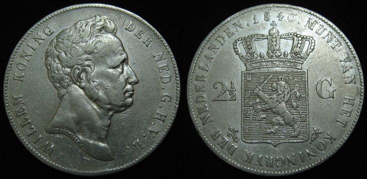 """Netherlands 2.5 Gulden Willem I 1840 """"Rare"""""""