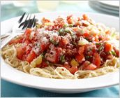 Dreamfields Pasta's Fresh Tomato & Basil Pasta {Love fresh tomatoes and basil from my garden in the summer!!  JF}