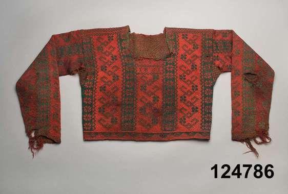 Knitted men's sweater, so called rose pullover, from 1861. Origin Ängersjö, Hälsingland county, Sweden | Stickad manströja, s.k roströja, från 1861, Ängersjö, Hälsingland.