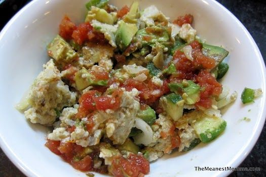 Easy Paleo/Whole 30 egg recipe that takes advantage of what's already in your fridge.