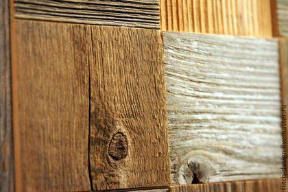Дизайн интерьеров ручной работы. Панели для стен из амбарной доски - квадрат. Александр Леньков. Ярмарка Мастеров. Старая древесина, сосна