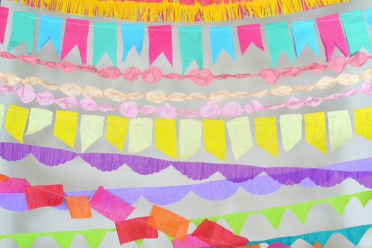 Paper Streamer Decoration Ideas | Crepe Paper Streamers Party and Wedding Decor. Easy DIY