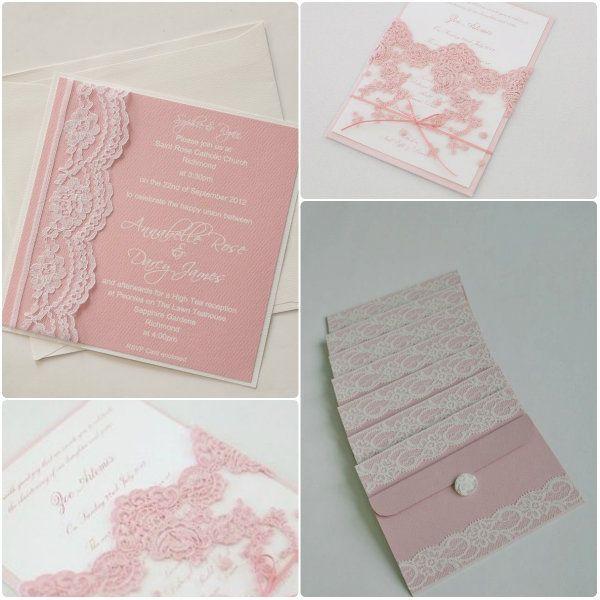 Suss Spitze Hochzeit Einladungen Pink Hochzeit Pinterest