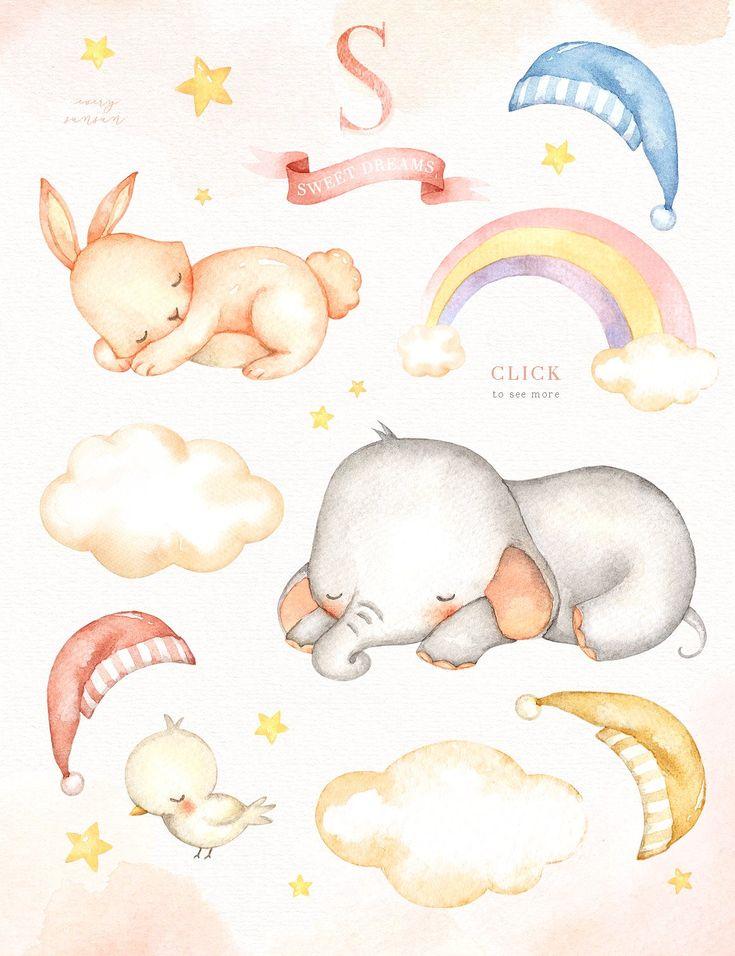 Картинки детские спящие зверюшки