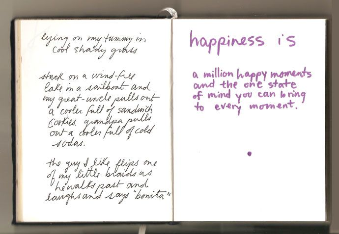 Happiness Is: sketchbook page