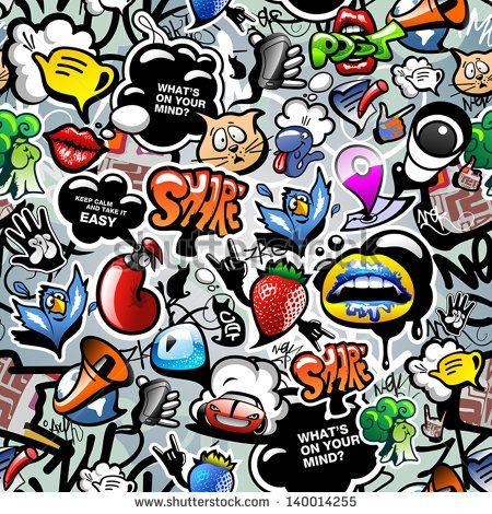 easy graffiti vector - Google Search