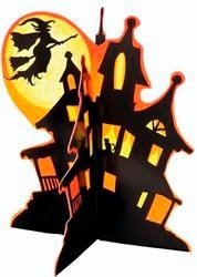 Large Spooky Deluxe 3D Centrepiece Decorations-Spooky Party OR Halloween Parties