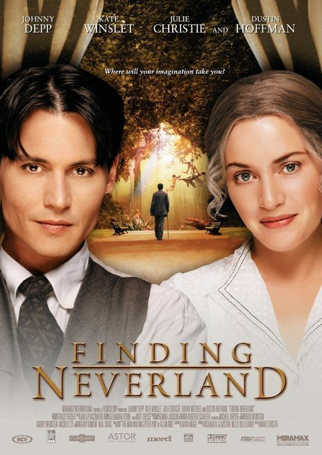 Finding Neverland (2004) Based on the true story of the author of Peter Pan. Starring Johnny Depp and Kate Winslet