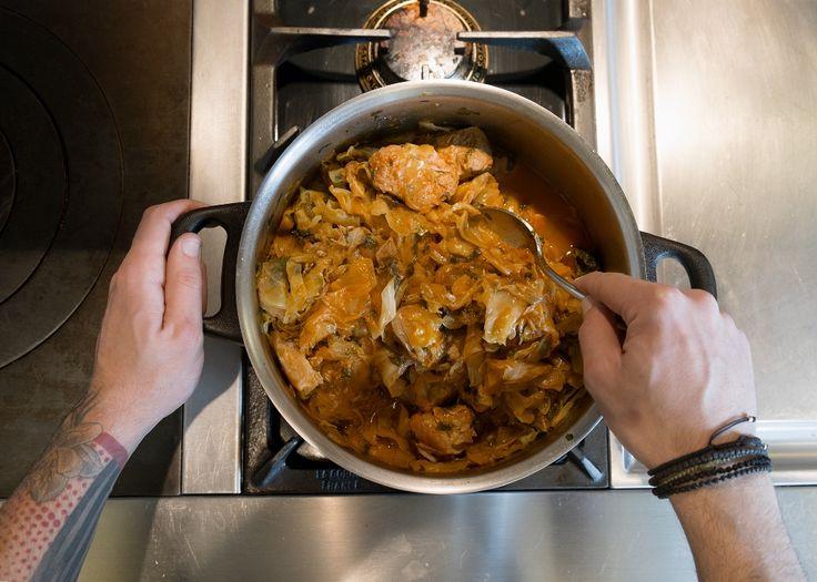 #tsoulomageiremata: Χοιρινό με λάχανο Μια συνταγή απο τη Βόρεια Ελλάδα που ξέρει από καλό φαγητό...