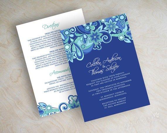 Paisley Wedding Invitation Paisley Paisley Invite by appleberryink, $59.00