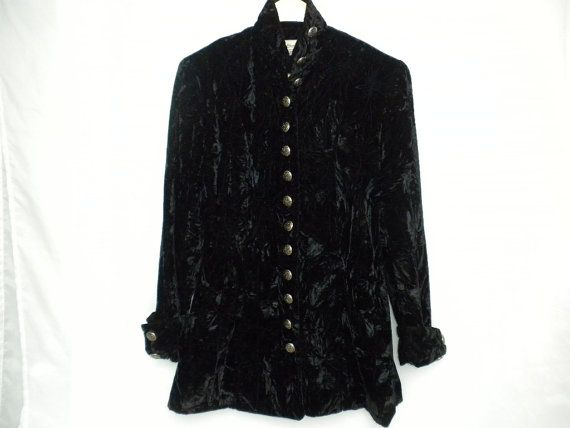 VTG 80s Le Chateau Womens Size Small Black Crushed by DJVboutique
