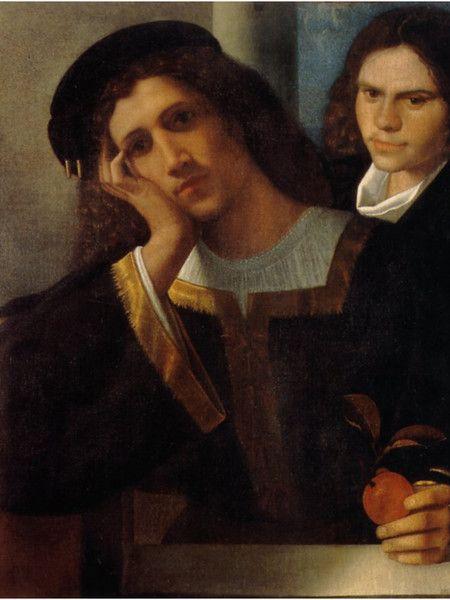 Giorgione, Doppio ritratto, 1502 ca, olio su tela, cm 80x75, Museo Nazionale di Palazzo Venezia, Roma