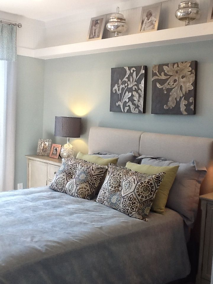 Bedroom Decor Mustard Green Brown Gray Light Blue Designer