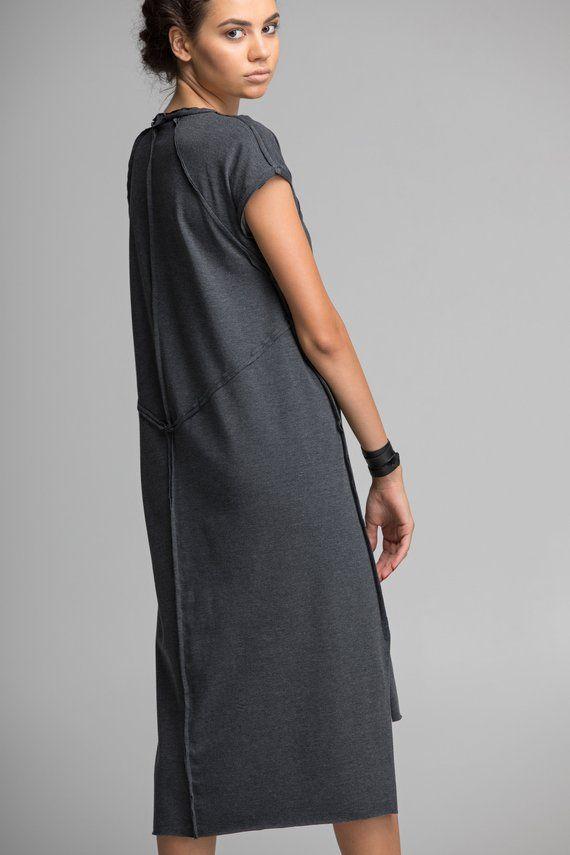 d4dbb76cdc72 Gray geometric dress