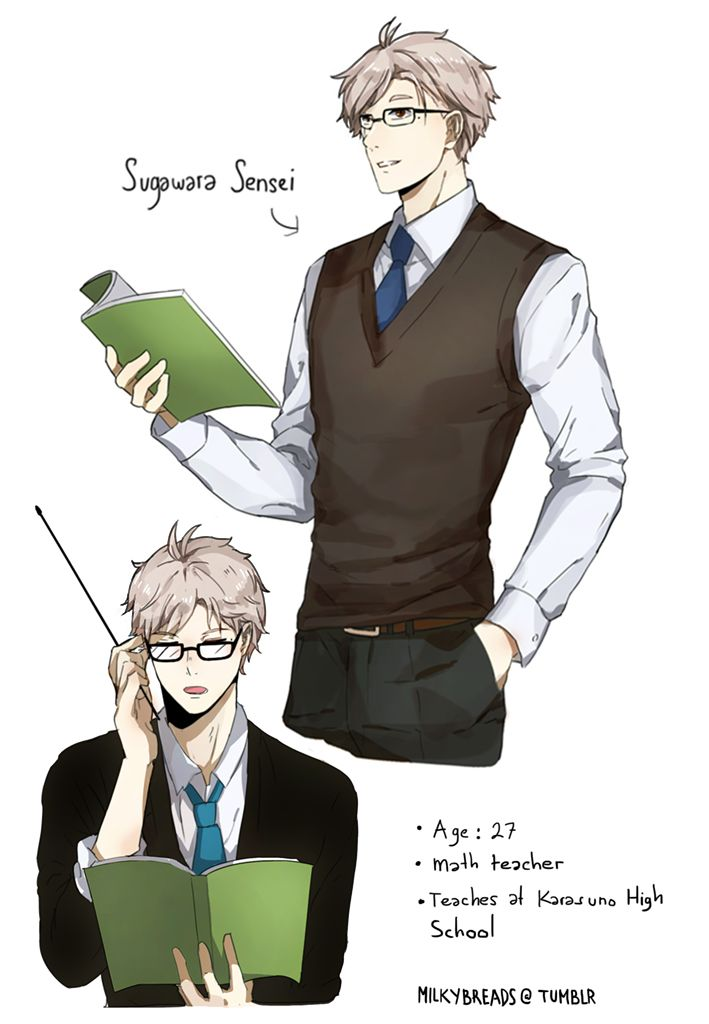 Sugawara - What if Suga went to a teacher school and becomes a teacher at Karasuno wehen he finished school. he'll be like a liVING LEGEND - Part 1