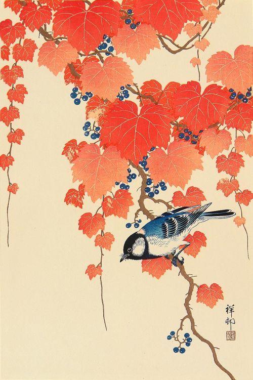 Ohara Kosonest un artiste japonais né en 1877et mort en 1945.Il était peintre de Kacho-e(illustr