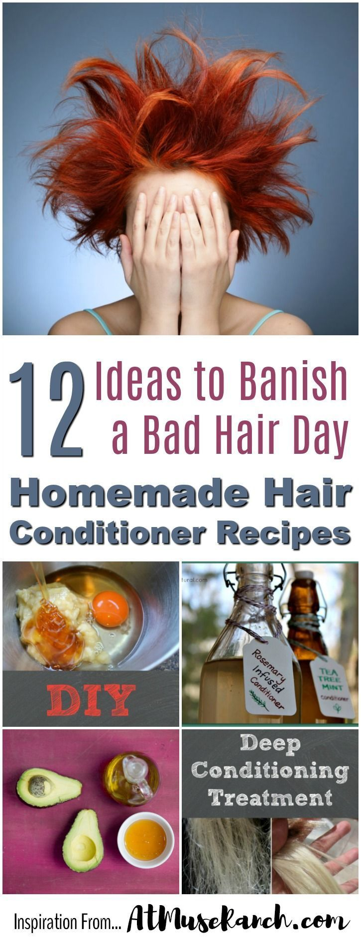 Homemade Hair Conditioner Recipes | 12 Ideas to Banish a Bad Hair Day - Having a bad hair day? Maybe a natural hair product like one of these homemade hair conditioner recipes is just with the stylist's ordered…