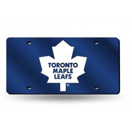 Toronto Maple Leafs Laser Etched License Plate/Tag (Blue)