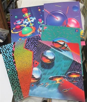 Lot-of-5-PORTFOLIO-FOLDERS-for-Trapper-Keeper-Binders-Designer-Series-NOS
