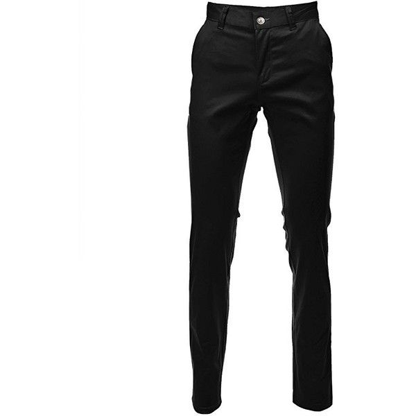 FLATSEVEN Mens Slim Fit Chino Pants Trouser Premium Cotton ($27) ❤ liked on Polyvore featuring men's fashion, men's clothing, men's pants, men's casual pants, pants, mens pants, mens slim fit pants, mens chinos pants, mens chino pants and mens cotton pants