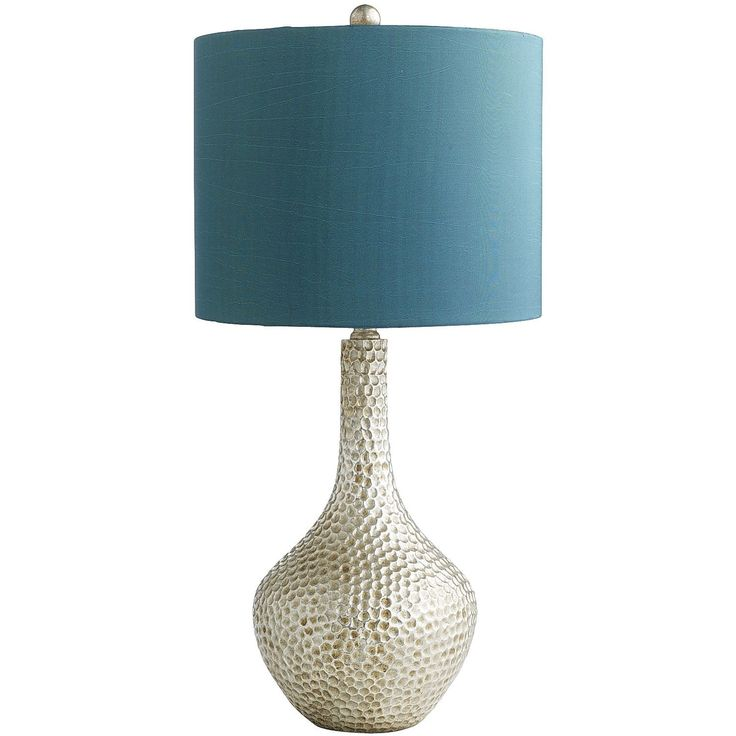 Pier 1: Honeycomb Lamp - Teal. I have this lamp. Love the colors and the texture on the base.