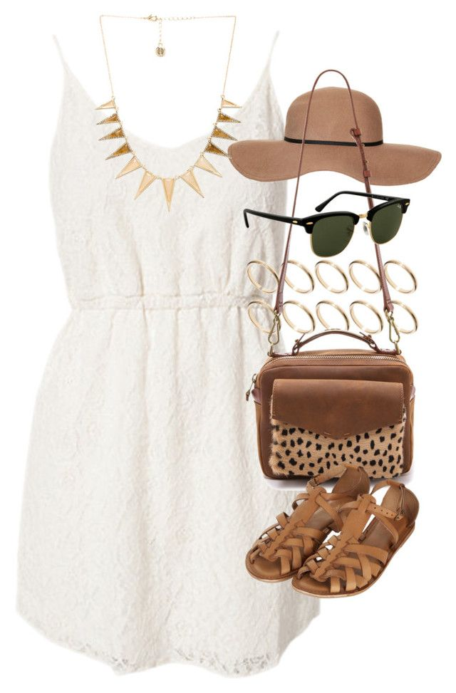 outfit for summer trip to the zoo by im-emma on Polyvore featuring Jeane Blush, Topshop, Madewell, ASOS, House of Harlow 1960 and Rayban