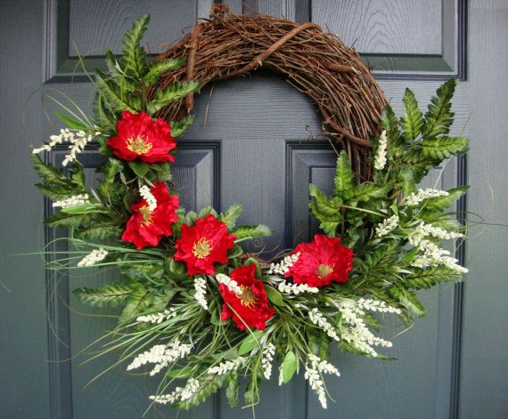 Red Poppy Remembrance Day Wreath