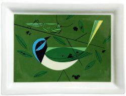 Green Jay Tray | Charlie Harper Art Studio