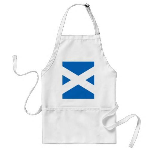 Scottish Scotland flag apron