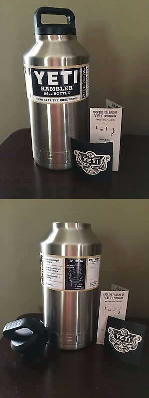Canteens Bottles and Flasks 181408: 64Oz Authentic Yeti Rambler Bottle **Free Shipping**Us Seller Yramb64 -> BUY IT NOW ONLY: $45 on eBay!
