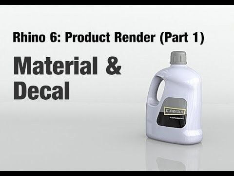 Rhino 6 - Product Render Tutorial (Part 1) Material & Decal