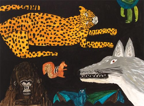 "Japanese artist and illustrator Mirokomachiko from her picture book, ""Wolf Tobuhi"""