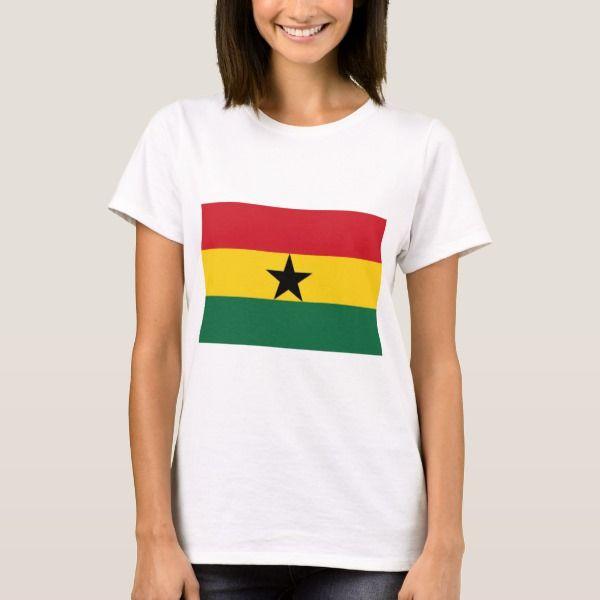 "T-shirt ""Ghanese vlag""."