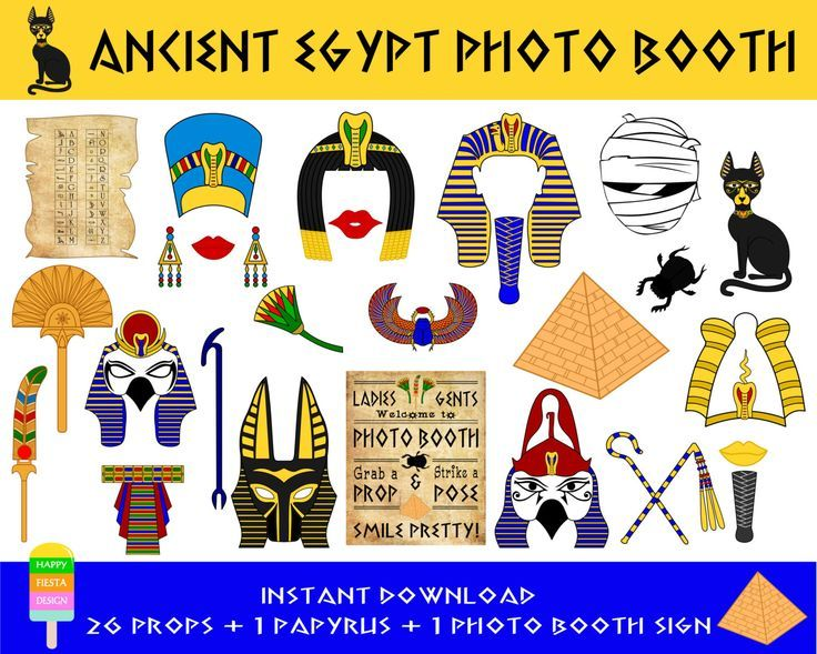 Instant download - DIY printable Ancient Egypt Civilization photo booth props. Set of 28 pieces: 26 props, 1 papyrus, 1 photo booth sign. ******************************************************************** *** This is an INSTANT DOWNLOAD digital file and NO PRINTED item will be shipped! *** ******************************************************************** *** HOW TO ORDER *** * Add this listing to your cart and checkout. * Once payment is confirmed, you will get an email sent to your…