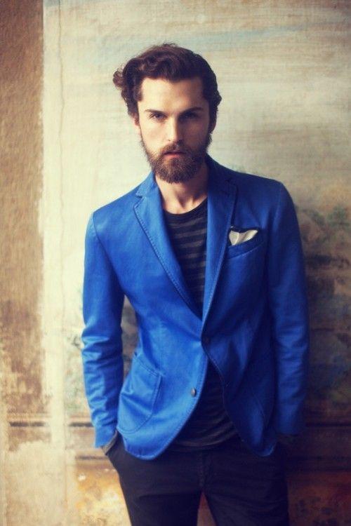 Fabian Nordstrom: blue blazer, striped tee.