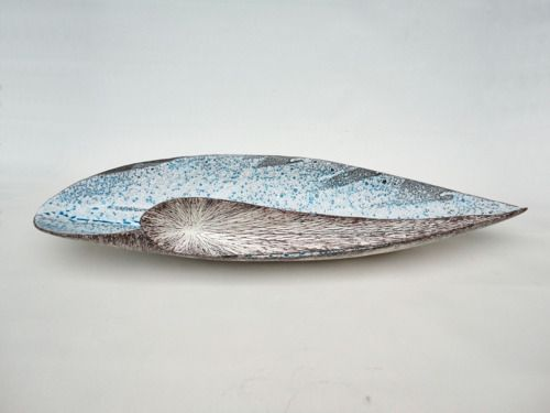 "Tanoue Shinya,  KARA-10: Fu- a, 2010, Glazed clay, 7"" x 26"" x 4 1/2"" (h)"